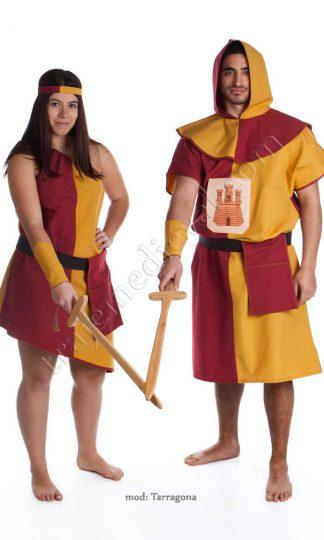 Traje arquero Tarragona Oro